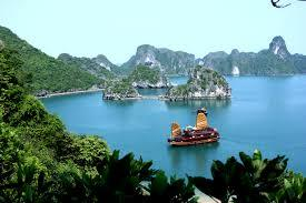 beautiful islands with clear water and boat